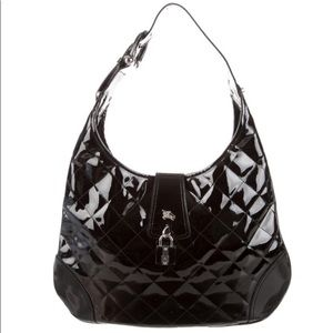 Black quilted  Burberry hobo